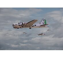 B17 - 15th AF - B17s in Italy Photographic Print