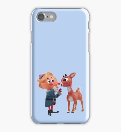 Rudolph the red nose reindeer iPhone Case/Skin