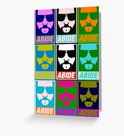 Abide - Pop Art Greeting Card