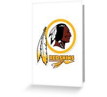 REDSKINS Greeting Card