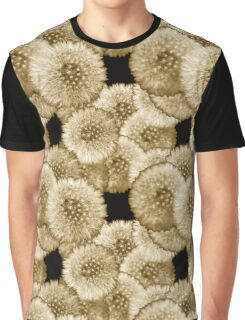 Monochrome Dandelion Graphic T-Shirt