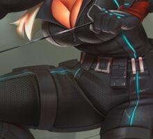 Hazel Punkin 3 (Black Widow cosplay) Sticker