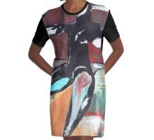 shaman Graphic T-Shirt Dress