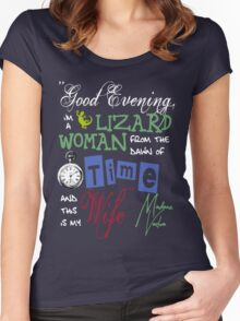 Madame Vastra Quote Women's Fitted Scoop T-Shirt