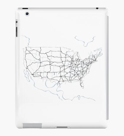 United States of America (blue) iPad Case/Skin