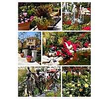 Plaza Garden Collage Photographic Print