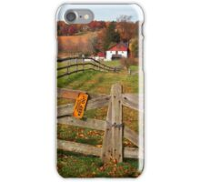 Farm Yard Fence iPhone Case/Skin