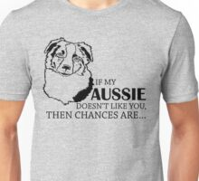 If My Aussie Doesn't Like you then changes are Unisex T-Shirt