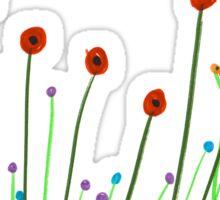 Poppies. Sticker