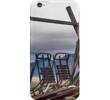 Dogsleds Waiting for Winter iPhone Case/Skin