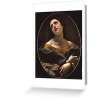 Carlo Dolci - Allegory of Patience Greeting Card