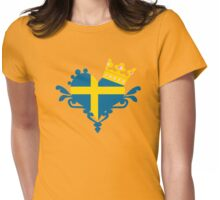 The Swedish Princess emblem Womens Fitted T-Shirt