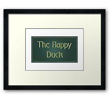 The Flappy Duck - The IT Crowd Framed Print