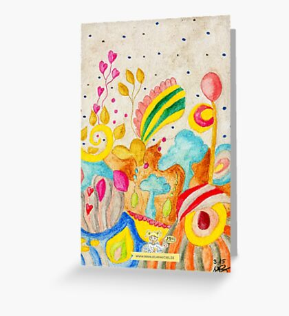colorful world Greeting Card