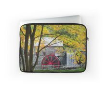 Sudbury Grist Mill in the Fall Laptop Sleeve