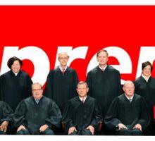 Supreme Logo W/ Supreme Court Justices Sticker