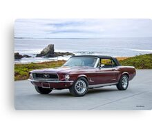 1968 Ford Mustang Convertible Canvas Print