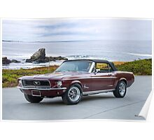 1968 Ford Mustang Convertible Poster
