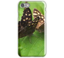 Butterfly Kisses - Speckled Wood Butterflies iPhone Case/Skin