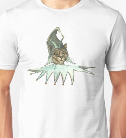 Clown Cat In Green Hat Unisex T-Shirt