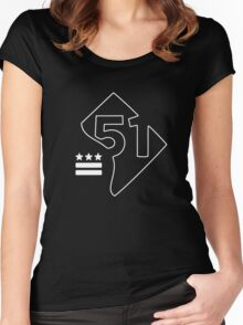 51st State (white) Women's Fitted Scoop T-Shirt