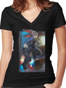 Investigation Women's Fitted V-Neck T-Shirt