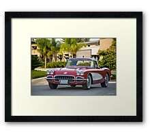1958 Chevrolet Corvette Roadster Framed Print