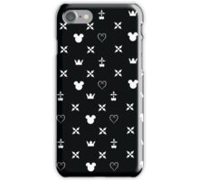 Kingdom Hearts Pattern (white) iPhone Case/Skin