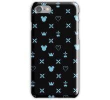 Kingdom Hearts Pattern (blue) iPhone Case/Skin