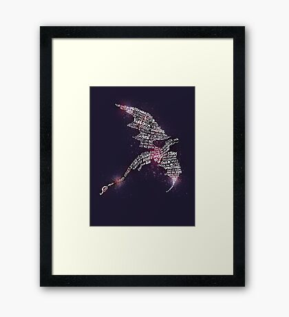 Smaug - Lonely Mountain Framed Print