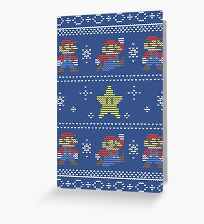 Mario Christmas Sweater Greeting Card