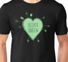 Oliver Queen - Heart with Green Arrows Doodle Unisex T-Shirt