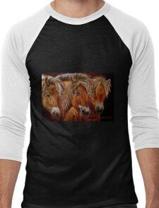 """Larry,Curlie and Moe"" Men's Baseball ¾ T-Shirt"