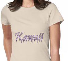 Kawaii Pastel Cute Text Purple Womens Fitted T-Shirt