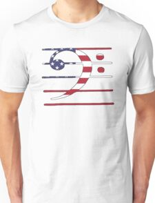 American Flag – Bass Clef Unisex T-Shirt