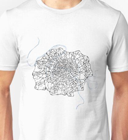 Fleur de Paris (blue) Unisex T-Shirt