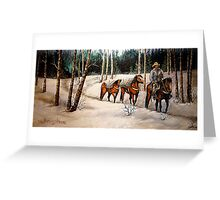 """""""Coming Down From Black Mountain"""" Greeting Card"""