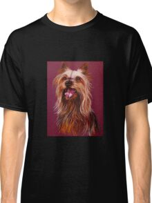 """Trouble"" A Portrait Of A Yorkshire Terrier Classic T-Shirt"