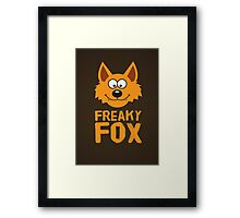 Funny cute Freaky Fox Framed Print