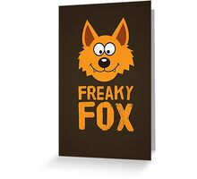 Funny cute Freaky Fox Greeting Card