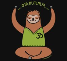 Om Yoga Sloth Kids Clothes