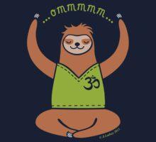 Om Yoga Sloth Kids Clothes