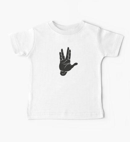 Spocks Hand Galaxy Baby Tee