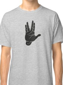 Spocks Hand Galaxy Classic T-Shirt