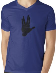 Spocks Hand Galaxy Mens V-Neck T-Shirt