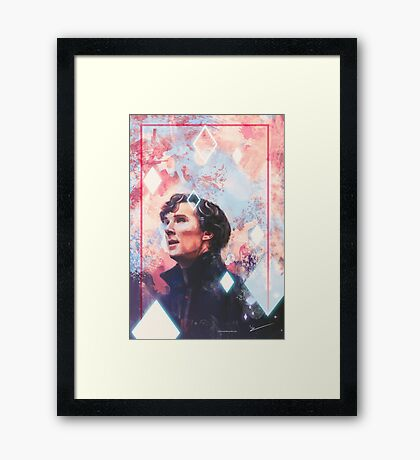 A Study In Pink!  Framed Print