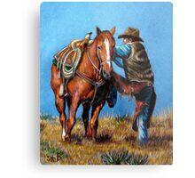 """Cowboy Up"" Metal Print"