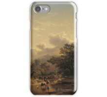 Carlos de Haes Landscape with Drove of Cows iPhone Case/Skin