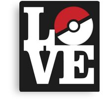 Love Pokemon Canvas Print