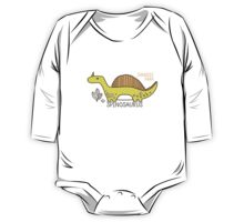 Dinosaurs, Jurassic Park. Adorable seamless pattern with funny dinosaurs in cartoon One Piece - Long Sleeve